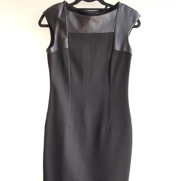 Zara patent leather bodycon dress